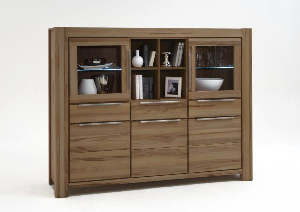 Highboard XL Wildeiche massiv