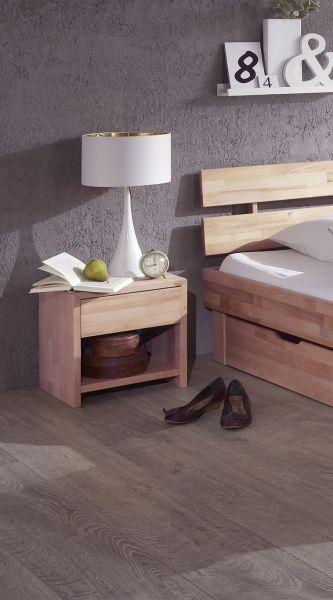 Eleganter Nachtschrank, Nachttisch aus massiver Wildeiche sonoma geölt