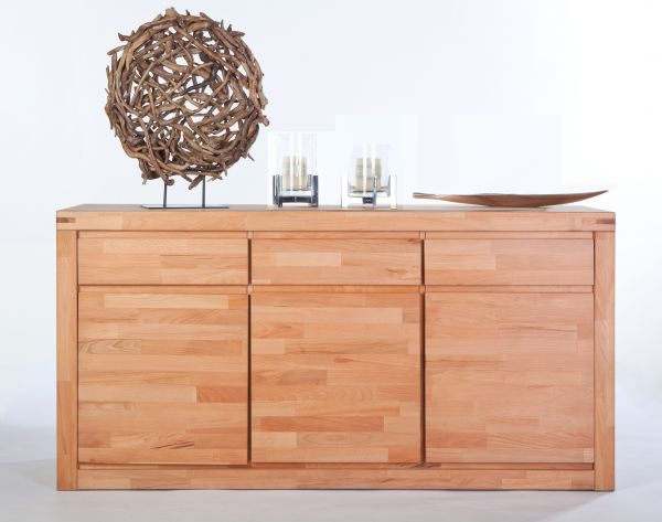 Sideboard XL Kernbuche massiv lackiert