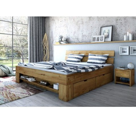futonbett wildeiche massiv eiche 140x200 bettkasten kopfteil massivmoebelversand24. Black Bedroom Furniture Sets. Home Design Ideas