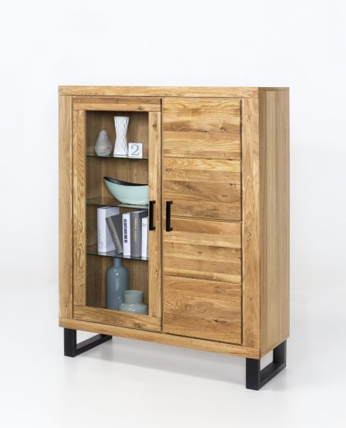 Highboard Tido XL Wildeiche Fronten massiv geölt