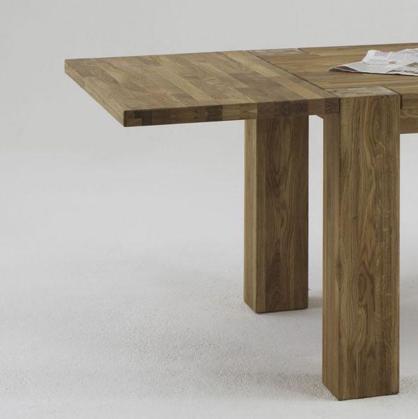 Ansteckplatte zum Esstisch Wildeiche Massivholztisch 200x100 cm